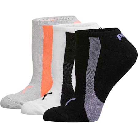 Women's No Show Socks [3 Pack], LT PASTEL PURPLE, small